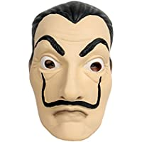Salvador Face Mask Latex Mask LCDP Realistic Movie Prop Face Mask Beard Mask