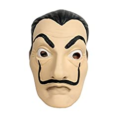 Idea Regalo - Salvador Face Mask Latex Mask LCDP Realistic Movie Prop Face Mask Beard Mask