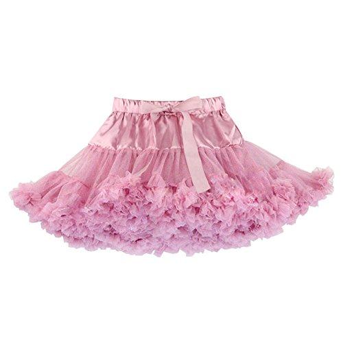 Eastlion Mädchen Einfarbig Multi Schichten Tutu Pettiskirt Tanz Tutu Röcke, Rosa (P Kostüme Dress Up)