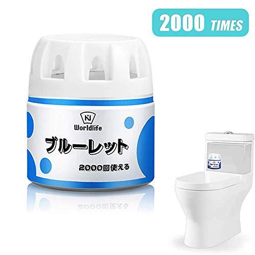 Goglor Toilette Reiniger und Erfrischer, Automatisch Selbstreinigung Blaues Wasser Toilettenschüssel Reiniger, Lang Anhaltende 2000 Spülung, Natur Allzweck Duft WC Lufterfrischer