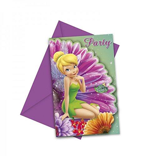 Procos - 6 Einladungskarten Fairies Magic mit Umschläge