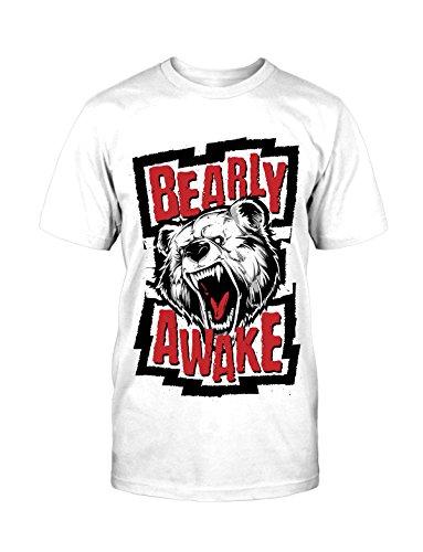 Bear T-Shirt neu Bär Fun Lustig Funny Hipster Blogger Trendsetter Faschion Kult Weiß
