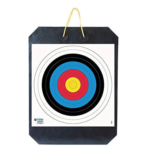 YATE Bogenschießen Zielscheibe Polimix R mit Griff 80cm x 60cm x 10cm bis 45 lbs (Pfund) Bogensport Bogenschießscheibe Bogenzielscheibe mit 2 Scheibenauflagen 60cmx60cm Indoor & Outdoor