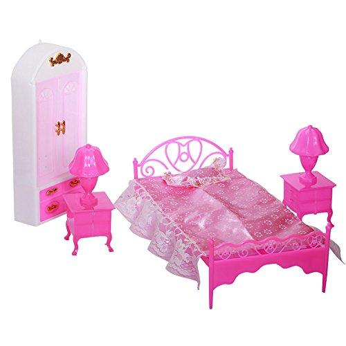 Ocamo Geburtstagsgeschenk | Geschenke for Junge/Mädchen,Puppen Zubehör Pretend Play Möbel Set Spielzeug für Barbie-Puppen Kinder Bedroom