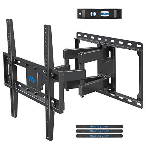 ndhalterung Schwenkbar Neigbar Fernseher Wandhalterung Doppel Arm Halterung für die meisten 66-140cm (26-55 Zoll) LED, LCD, OLED, Plasma TVs mit VESA 75x75-400x400mm bis zu 45kg ()