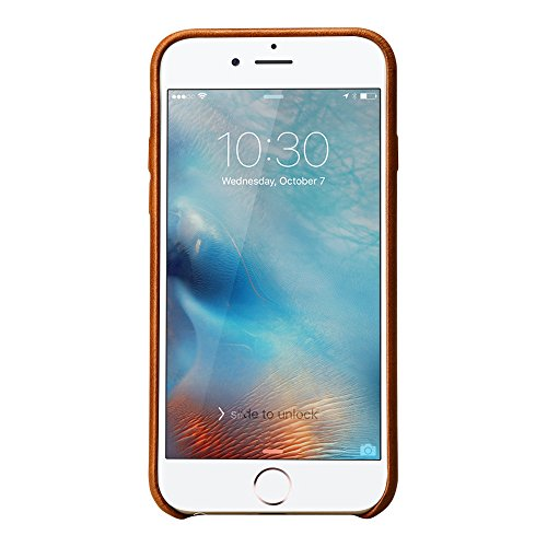 Jisoncase VINTAGE iPhone 7 Plus Hülle, Braun, Leder, JS-I7L-03A20 Braun