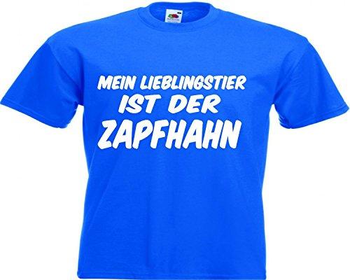 Motiv Fun T-Shirt Mein Lieblingstier Ist Der Zapfhahn Malle Trink Motiv Nr. 2919 Blau