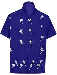 *La Leela****** Shirt Camisa Hawaiana Hombre XS - 5XL Manga Corta Delante de Bolsillo Impresión Hawaiana Casual Regular Fit Camisa…