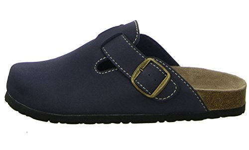 Softwaves 276-002 Donna Pantofole pantofole Zoccoli classico Blu marino