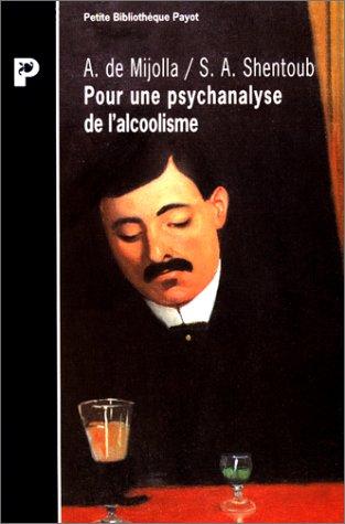 Pour une psychanalyse de l'alcoolism...