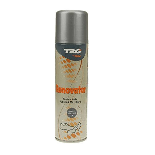 TRG Renovator Wildleder Nubuk Microfaser Pflegespray Imprägnierspray (hellgrau)