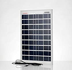 Sparkel 20W Solar Panel with five meter long moulded wire for DC connection