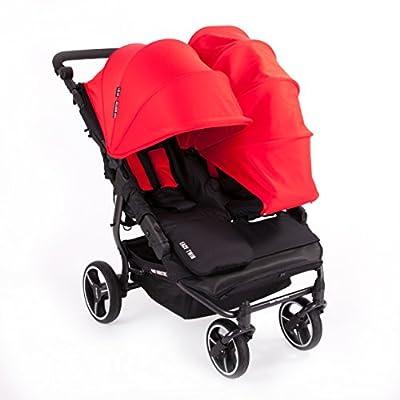 NUEVA Silla Gemelar Easy Twin 3.0.S con capota reversible de paseo Baby Monsters - Color Gris Marengo + REGALO de dos mantas para silleta - Danielstore