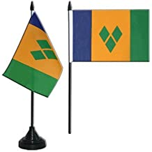 Saint Vincent and the Grenadines Table Flag 4 x 6 inch