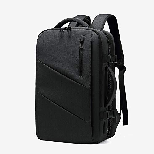 DUANYU Rucksäcke Laptop,Erweiterbare Multifunktionale 15,6 Zoll Laptop Rucksäcke Multi-Layer USB-wasserdichte Schultasche -