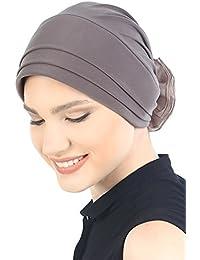vorderse mismo tiempo acolchada y minicorrea sombrero con gasa de Rose para pérdida de pelo y Cáncer