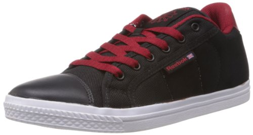 Reebok Classics Men's On Court III Lp Black and Red Canvas Sneakers  – 10 UK 41DGVabW0wL