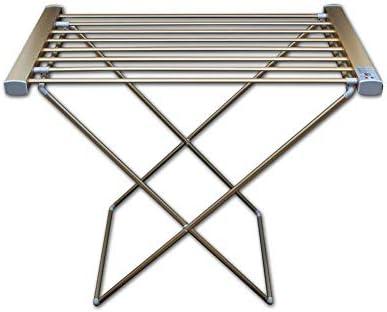 FREIHE Toallero eléctrico calefactado, Plegable de pie Inteligente Control de Temperatura Inteligente Calentador de Toallas Secado Rack Espacio Aluminio 40~250w