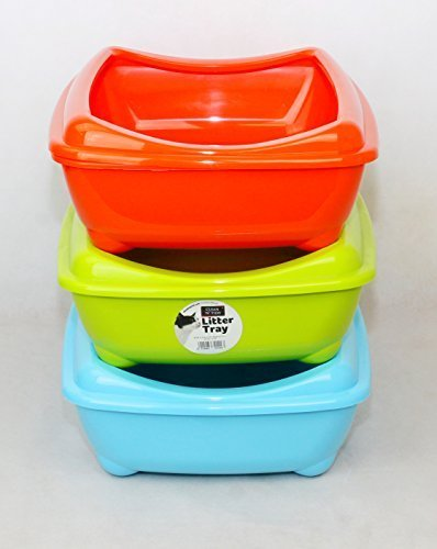clean-n-tidy-cat-kitten-litter-tray-fun-with-rim-42cm-green