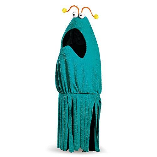 Kostüm Erwachsene Für Sesame Street - Sesame Street Adult Yip Yip Costume (Blue Martian) X-Large (42-46)