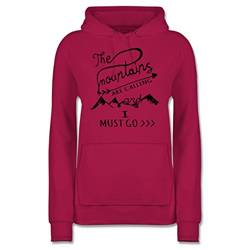 Wintersport - The Mountains Are Calling - M - Fuchsia - JH001F - Damen Hoodie