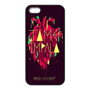 Tame Impala 001 coque iPhone 5 5S Housse téléphone Noir de couverture de cas coque EVAXLKNBC19116