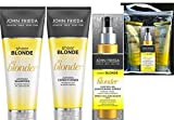 John Frieda Sheer Blonde Go Blonder GESCHENK SET Shampoo Und Spülung&Hightlight Spray