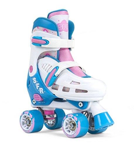 SFR Storm III - Patines ajustables para niños, color blanco y rosa,...