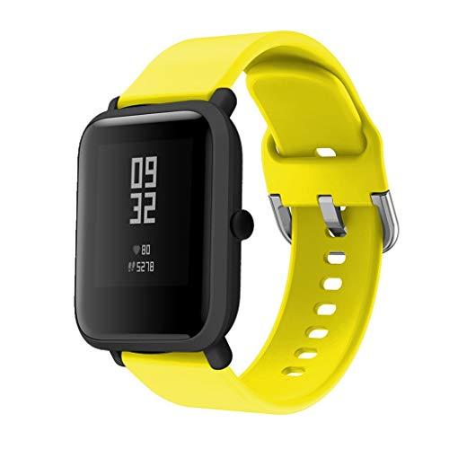 DIPOLA Correas de Reloj de Repuesto de Silicona para Xiaomi Huami Amazfit Bip Youth Watch-