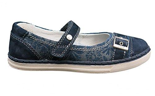 Vado Paulina 34306–116Enfant Chaussures Barrette à dans moyen Bleu - 116 kobalt