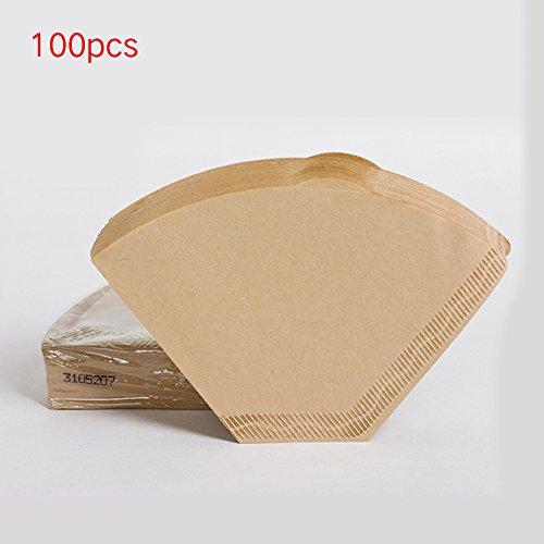 100 x Kaffeefilter-Papier, ungebleicht, Universal-Kaffee-Filterpapier für Kaffeemaschinen 2 to 4...