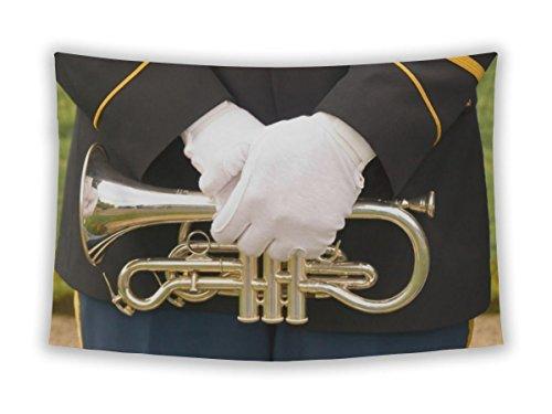 Gear Neue Mauer Stickset für Schlafzimmer Aufhängen Art Decor College Wohnheim Bohemian, Trompete Medium, 60 inches Wide by 51 inches Tall Trumpet