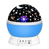dmazing 2-10 Jahre Mädchen Geschenk, Nacht Licht Mond Star Beamer Spielzeug für Jungen 2-10 Jahre Best Christmas Geschenke für Mädchen Kinder Strumpf Füllstoffe Blue
