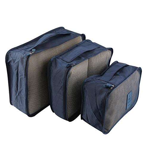 6pcs/Set Portable Waterproof Clothes Storage Bag Packing Cube Travel Luggage Organizer Durable Clothes Sock Bra Storage Bag