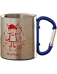 Tokenz Rakhi Gifts Brother Sister Quote Printed Stainless Steel Coffee Mug Gifts For Brothers Gifts For Sister Rakshabandhan Bhaidooj Gifts