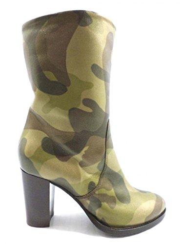 ALBERTO GOZZI AY166 stivali donna 40 EU marrone militare pelle (40 EU)
