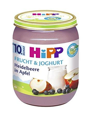 Hipp Heidelbeere in Apfel, 160 g