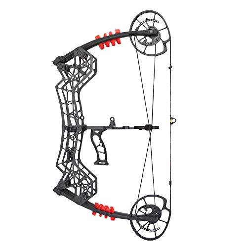 SHARROW Compoundbogenset Jagdbogen 30-60lbs Einstellbar Dual-Zweck Sportbogen Katapult Stahl Ball Compound Bögen für Outdoor Bogen Jagd Angeln -