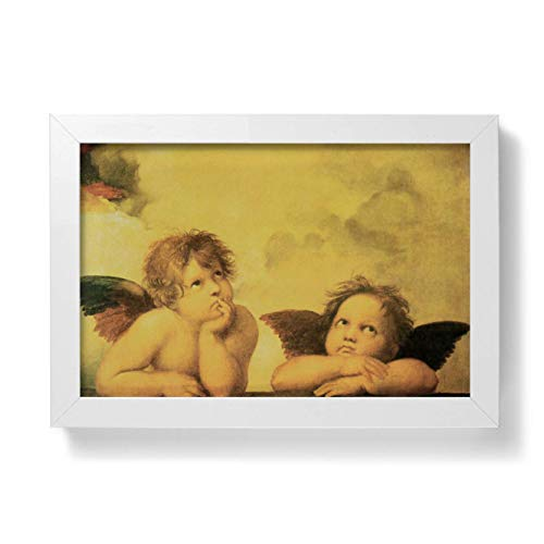 libreriadelsanto. IT Cuadro de ángeles con Marco Minimalista–tamaño 10x 15cm