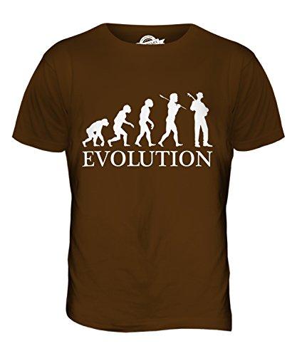 CandyMix Jazz Gitarre Evolution Des Menschen Herren T Shirt Braun