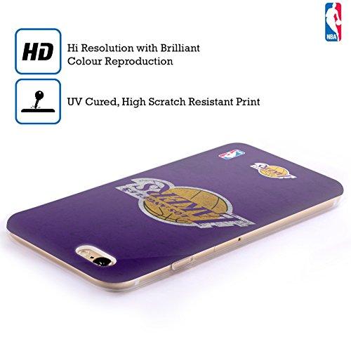 Offizielle NBA Einfach Los Angeles Lakers Soft Gel Hülle für Apple iPhone 6 / 6s Zerstört