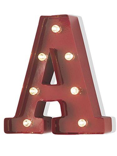 MONTEMAGGI Lámpara de luz y colorida estilo industrial de metal con luces led ideal para una bonita montaje en casa, junto con las letras luminose. 21 x 23 x 5 cm.