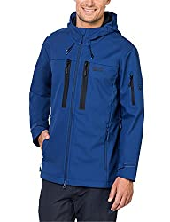 Jack Wolfskin Herren Northern Star Softshelljacke, Deep Sea Blue, L