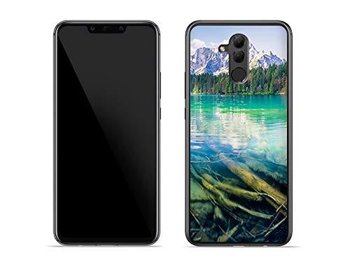 etuo Huawei Mate 20 Lite - Hülle Foto Case - Bergsee - Handyhülle Schutzhülle Etui Case Cover Tasche für Handy