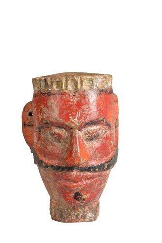 Original Masque En Bois Sculpture Origine Inde Origine Gujarat (inde) By Luxury Park