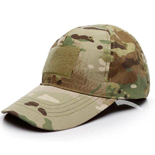 Imagen de malloom unisex hombres mujeres sombrero gorro camuflaje selva beisbol ejército caza visera sombrero sol al aire libre deporte con velcro