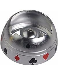 ZHAS Oro Plata metal flor poker cenicero cenicero semicircular home salón copa humo, ...