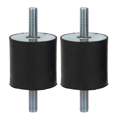WEONE Ersatz M8 40x40mm Gummi Doppel kurz Schraube Anti-Vibrations-Befestigungen Silentblock für Pumpe (Packung mit 2)