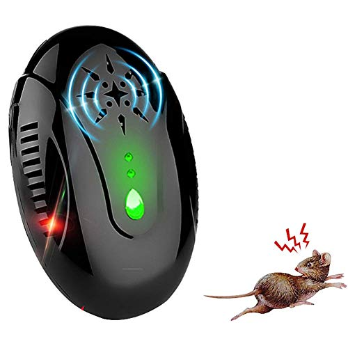LBSX Ultraschallmäusebekämpfer mit Nachtlicht, elektronische Plug-in Ultraschall Schädlingsbekämpfung, Hochfrequenz-Funk Mausefalle, beste Pest Repellent for Nagetiere, Schaben, Ameisen, Mäuse, Spinne