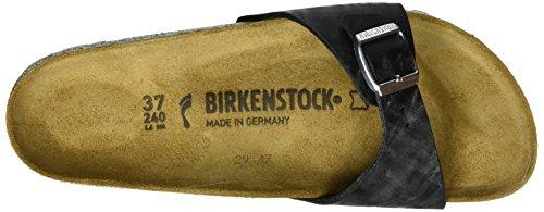 Birkenstock - Madrid Birko-flor, Pantofole Donna Schwarz (Check Black)